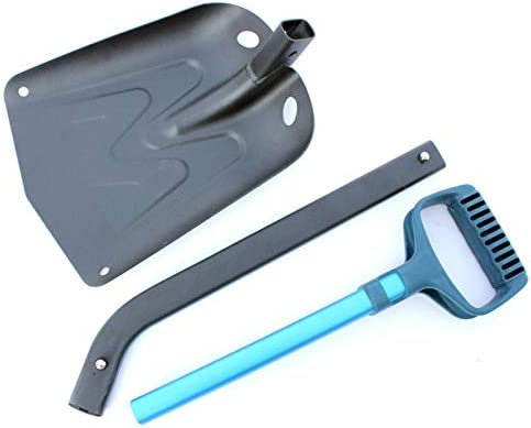 JMG Multi-Function Snow Shovel, Aluminum Long Handle Lightweight Snow Shovel, Detachable Suitable for Car, Outdoor, Camping and Garden