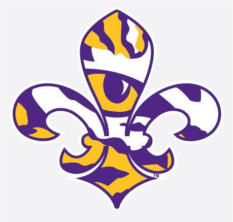 LSU Tigers TIGER EYE FLEUR DE LIS Logo 4