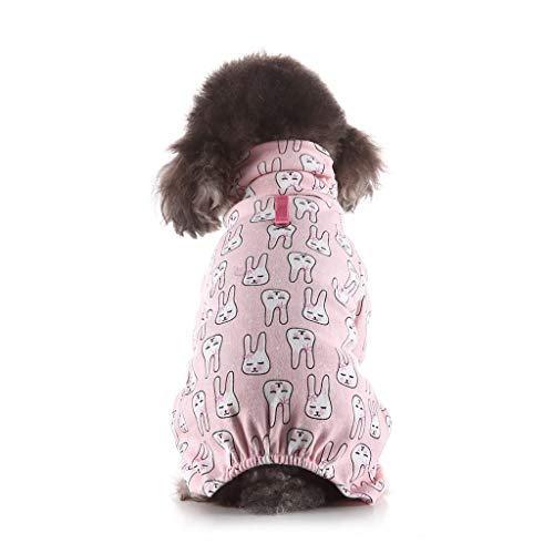 Dog Pajamas Wakeu Dog Clothes Onesie PJS for Small Dogs Cat Cute Puppy Bird Bunny Print Apparel Dog Jumpsuit Pet Clothing for Christmas Thanksgiving Easter from Wakeu Pet Products