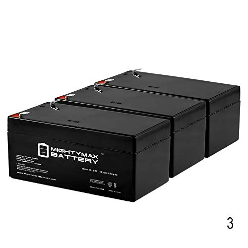 Mighty Max Battery 12V 3AH SLA Battery Replaces Wagan 2358 Brite-Nite Spotlight - 3 Pack Brand Product