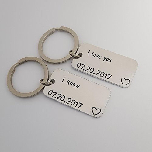 I Love You I Know, Star Wars Gifts, Personalized Keychain, Set of 2, Couples Gifts, Star Wars Keychain, Anniversary Gifts For Men, Boyfriend Gift, Long Distance Relationship