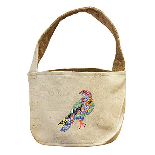 Falcon in Ornament Animals Canvas and Burlap Storage Basket by Style in Print