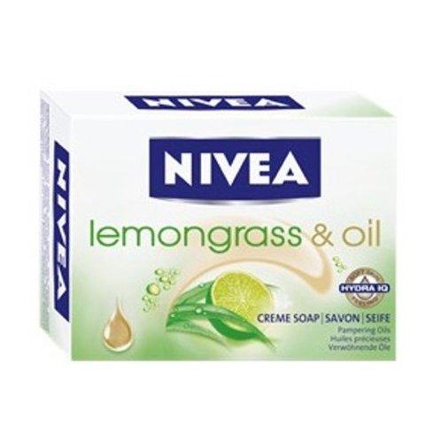 Nivea Lemongrass & Oil Bar Soap - Pack of 6 x 100g