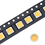 Chanzon 100 pcs 5050 Warm White 3000K SMD LED Diode Lights (Surface Mount 5.0mm x 5.0mm 3 Chips PLCC 6 pins 60mA 15-18LM) Super Bright Lighting Bulb Lamps Electronics Components Light Emitting Diodes