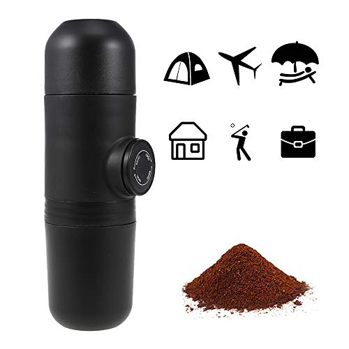 2 in 1 Mini Espresso Coffee Maker with Easy Option Refill, Water Tank 70 mL and Extra Small Travel Size Perfect for Camping, Travel, Kitchen and Office by kbxstart (Image #5)