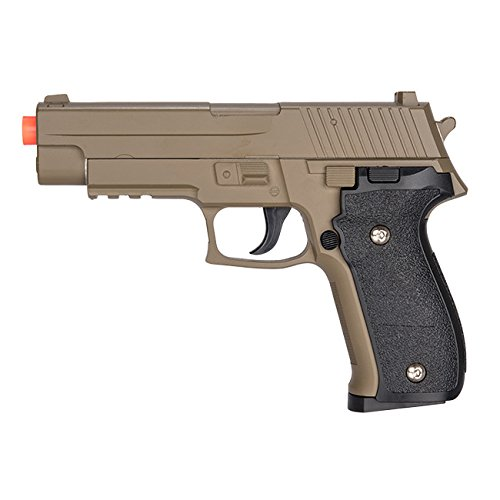 UK Arms G26D Airsoft Metal 226 Spring Pistol - DARK EARTH Shoots 280 FPS