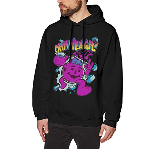 Men's Hoodie Sweatshirt Ko-ol Aid-Man Cotton Sweater Black M -