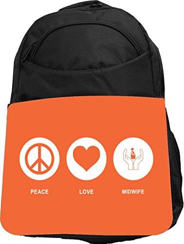 Rikki Knight UKBK Peace Love Midwife Orange Color Tech Ba...