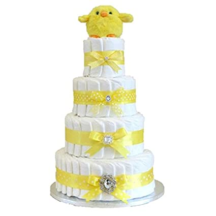 Signature EXTRA- Cesta de pañales unisex de lujo para tartas de bebé ...