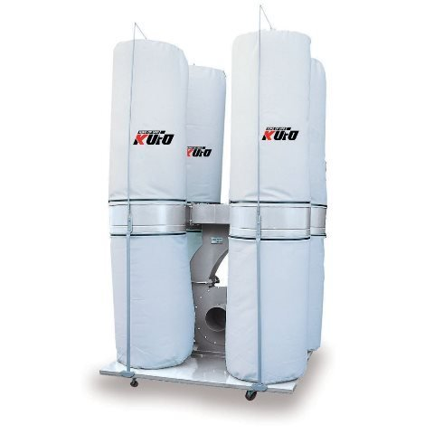 Kufo Seco UFO-104D 10 HP 6450 CFM 3 Phase 220V-440V Vertical Bag Dust Collector