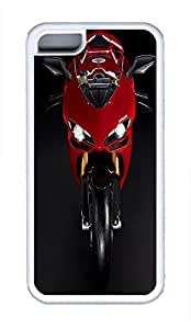 5C Case, iPhone 5C Case Galaxy Pattern Ducati 1198 Superbike Red Ideas iPhone 5C Shoockproof White Soft Case Full Body Hybrid Impact Armor Defender Cover protective Case for iPhone 5C