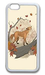 Apple Iphone 6 Case,WENJORS Awesome Fox and rabbit Soft Case Protective Shell Cell Phone Cover For Apple Iphone 6 (4.7 Inch) - TPU White