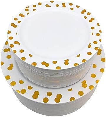 Paquete de 100 platos de plástico desechables ideales para ...