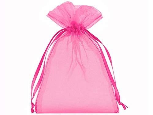 10 bolsitas de organza, bolsas de organza, tamaño 40 x 30 cm, el envoltorio ideal para regalos, elemento decorativo (rosa)