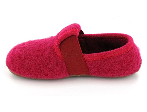 Haflinger Jonas - pantuflas de lana niña fucsia