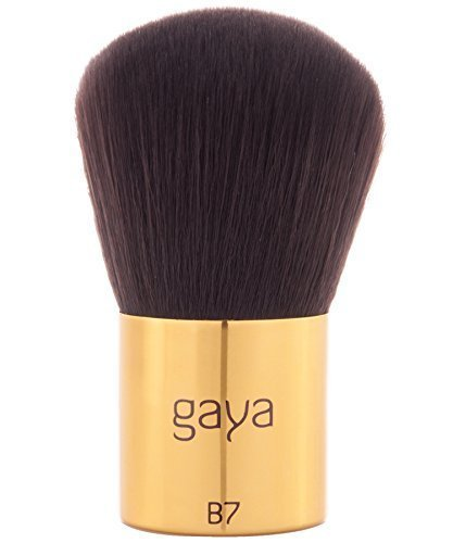 Foundation Kabuki Makeup Brush - B7 Vegan Professional Durable Dense Synthetic Fiber Make Up Brush by Gaya Cosmetics