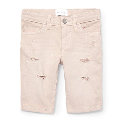 The Children's Place Big Girls' Basic Denim Skimmer Shorts, Sugarcane 9600, 4