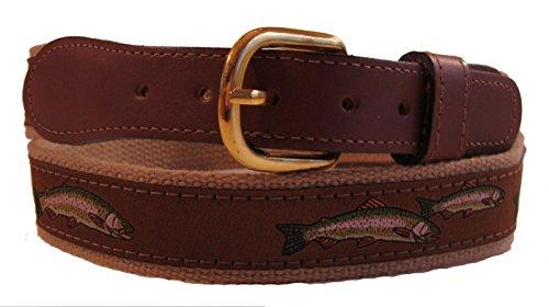 Trout Belt (Zep Pro Rainbow Trout Ribbon Belt (40, Brown on)