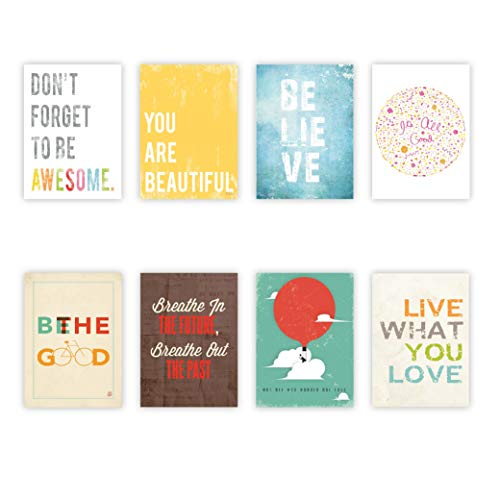 Inspire Mini Collection 5×7 Wall Cards, Typography, Nursery Decor, Kid's Wall Art Print, Kid's Room Decor, Gender Neutral, Motivational Word Art, Inspirational Artwork for Kids, Baby Room Decor, Playroom Decor, Classroom Decor, Teenager's Room Decor, Eco Friendly Decor, Baby Shower, Children Inspire Design