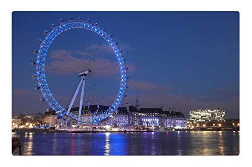 Londres Natural (Tree26 Indoor Floor Rug/Mat (23.6 x 15.7 Inch) - London Londres England Tourism British UK)
