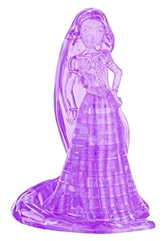 BePuzzled Original 3D Crystal Rapunzel Puzzle (39 Piece), Purple