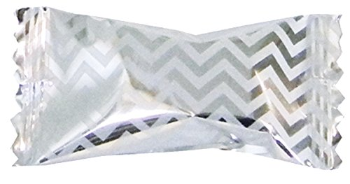 Party Sweets Chevron Silver Buttermints by Hospitality Mints, Appx 300 mints, 7-Ounce Bags (Pack of 6) ()