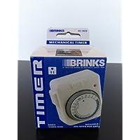 Brinks 42-1020 Mechanical Timer, On/off LED Indicator, Grounded Plug by BRINKS