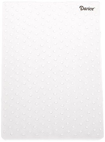 Darice 1217-67 Embossing Folder, 5 by 7-Inch, Dot Background Design (Darice Templates)