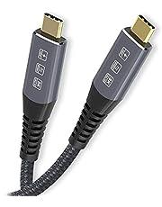 Cablecc 1.8M USB4 kabel 40 Gbps met 100 W opladen en 8 K @30 Hz 5 K @60 Hz Compatibel met Thunderbolt3/4