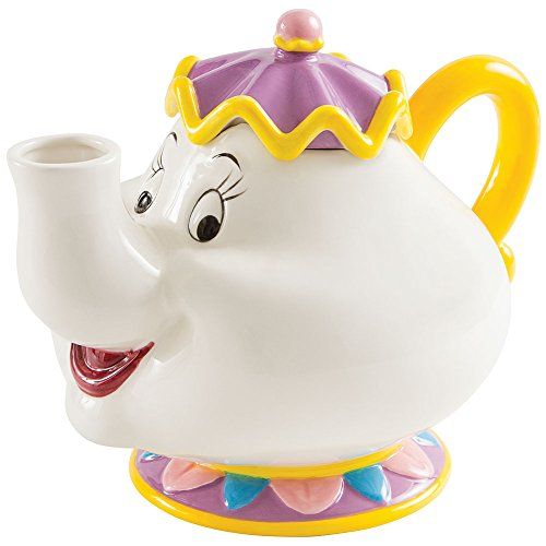 Disney's Beauty And The Beast - Mrs Potts 48 Oz Teapot - Handpainted Ceramic