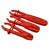 SUPERCRAZY 3PCS Plastic Brake Fuel Water Line Flexible Hose Clamp Set SC0054