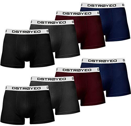 DSTROYED ® Boxershorts Herren 8er Pack Männer Men Unterwäsche Unterhosen Retroshorts 316