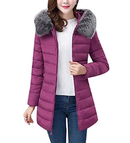 Coat Women Jacket Classic Slim Fit Oversized Down Long Mid Puffer RkBaoye Blue Uq6vwH6