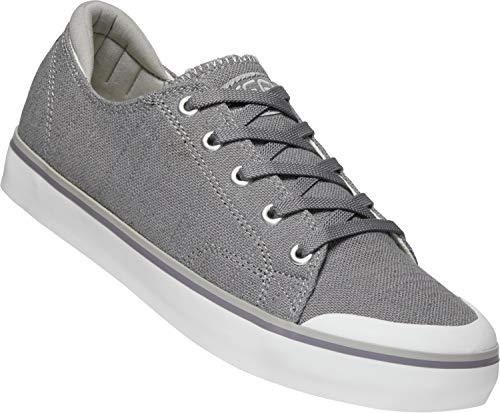 (KEEN - Women's Elsa III Canvas Sneakers, Steel Grey, 9 M US)