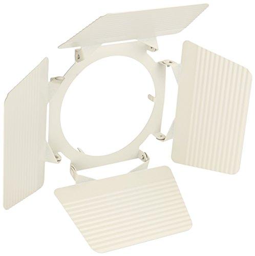 Line Voltage Scoop Wall Washer - Elco Lighting EP823W Line Voltage PAR30 Gimbal Fixture with Barndoors