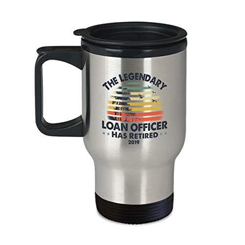 Retired Loan Officer Gift - Legendary Has Retired 2019-14oz Coffee | Tea Travel Mug