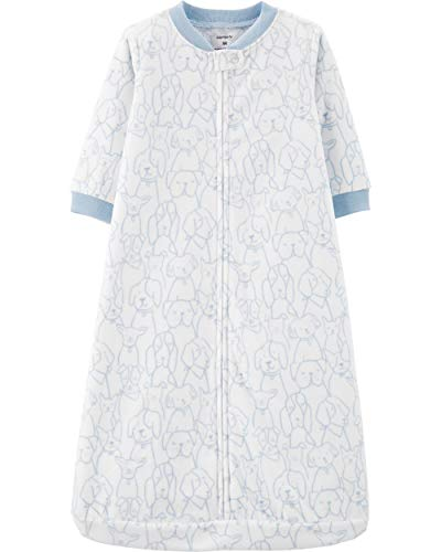 Carter's Unisex Baby Fleece Sleepbag Sleepsuit, Blue Dog, Small / 0-3 Months