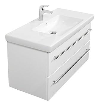 Waschbecken mit unterschrank weiß  Emotion SUBWAY2-0-100CM000101DE Waschbecken mit Unterschrank, Holz ...