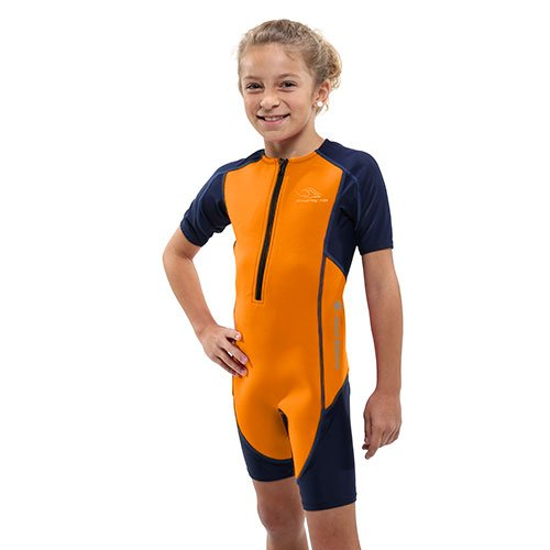 Aqua Sphere Stingray Short Sleeve Thermal Suit w/ New 2017 Fit, Orange/Navy, Size 2...