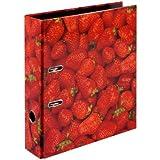 Herlitz Strawberry - Archivador de anillas con palanca, rojo