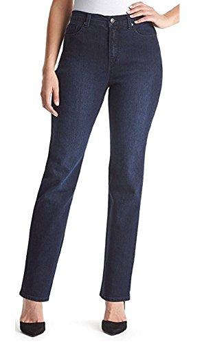 Gloria Vanderbilt Womens Classic Amanda Tapered Jean - Dark Blue Tall Inseam 34