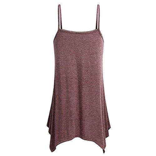 senza Beach Canotte Young Abbigliamento Sport Camicette per Girl T mujer le Shirt Vest Euzeo shirt donne T Women Sexy estate Vest Party Camiseta❤️euzeo❤️sin maniche Crop Camicetta SwX1Yqpf