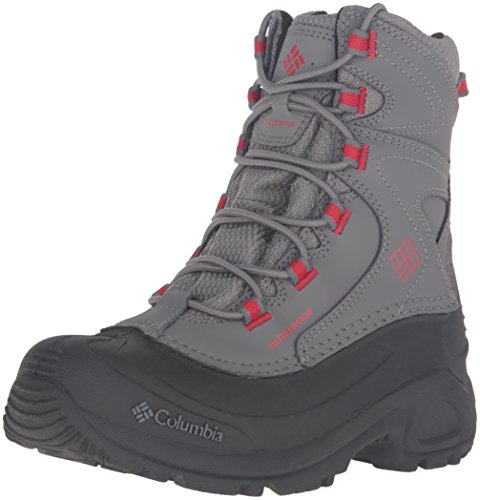 Columbia Kids' Youth Bugaboot III Boys-K Snow Boot, Quarry/R