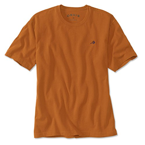 Orvis Men's Fly Crewneck Pigment Dyed T-Shirt, Amber, Medium