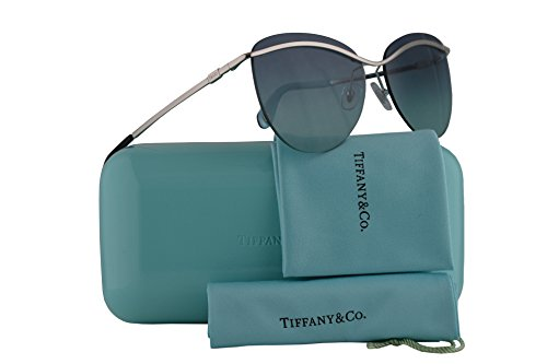 Tiffany & Co. TF3057 Sunglasses Silver w/Azure Gradient Blue Lens 60mm 60479S TF3057 Tiffany&Co. TF 3057 TF ()