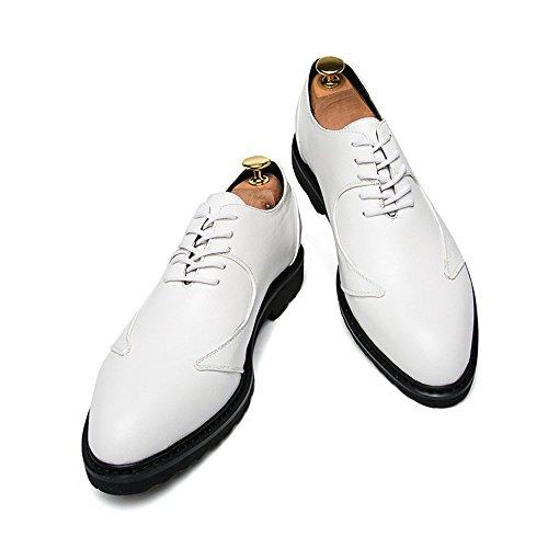 Business Basse Formali Scarpe Cricket Inglese Inglesi Casual Bianca Oxford Uomo Stile Scarpe da da rXARrf