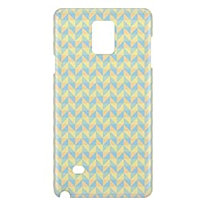 Loud Universe Samsung Galaxy Note 4 3D Wrap Around Geometry Decorative Print Cover - Multi Color