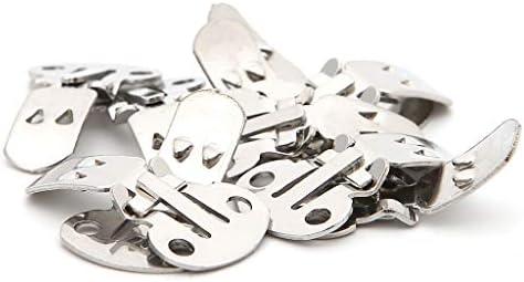Haptian 10Pcs Silber Ausschnitt Edelstahl Schuhe Clips Clip On Ornamente Befunde DIY
