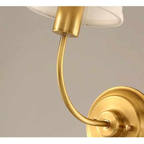 Retro Luxury Brass Wall Lamp Bedroom Bedside Lamp Mirror Front Lamp Wall Decoration Home Decoration Wall Lamp by Crystal (Image #5)