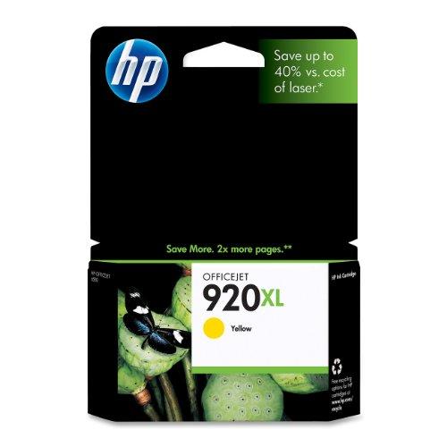 HP 920XL Yellow High Yield Original Ink Cartridge (CD974AN)